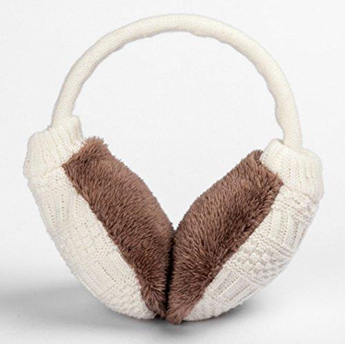 Ear muff Unisex crocheted ear warmers adjustable Winter Fleece warm earmuffs