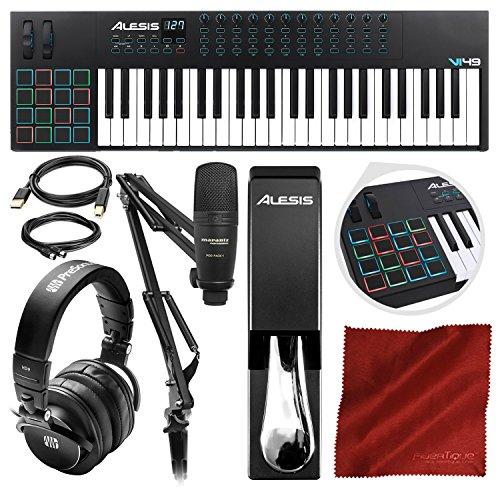 - Alesis VI49 49-Key MIDI Keyboard and Drum Pad Controller with Marantz Professional Pod Pack 1 Broadcasting Kit and PreSonus Headphones Platinum Bundle