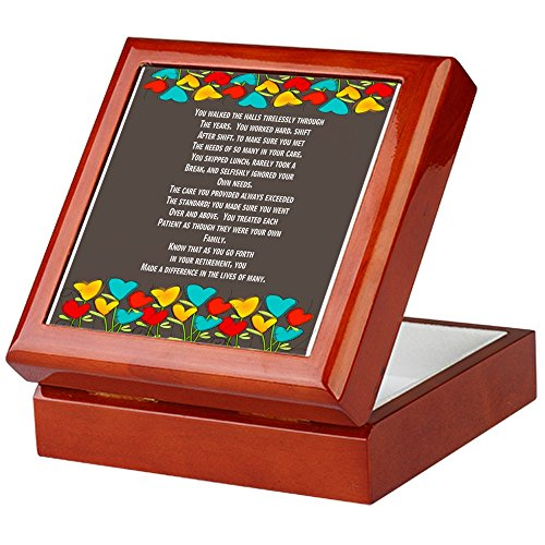 - CafePress - Retired Nurse - Keepsake Box, Finished Hardwood Jewelry Box, Velvet Lined Memento Box