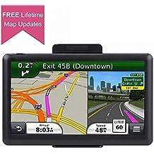 Car GPS, 7 inch Portable 8GB Navigation System for Cars, Lifetime Map Updates, Real Voice Turn-to-Turn Alert Vehicle GPS Sat-Nav Navigator