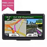 Car GPS, 7 inch Portable 8GB Navigation System for Cars, Lifetime Map Updates, Real Voice Turn-to-Turn Alert Vehicle GPS Sat-Nav Navigator