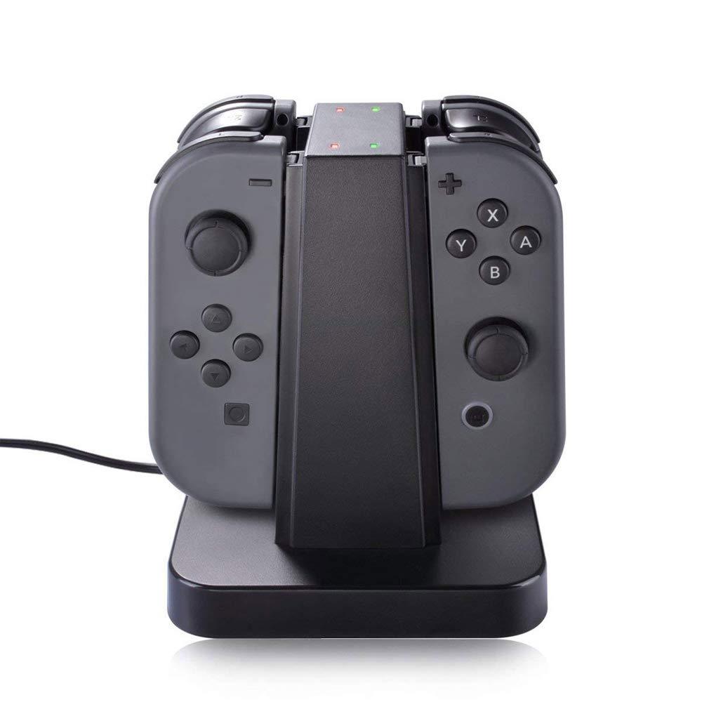 Nintendo Switch 32 GB Console w/Gray Joy Con (HACSKAAAA) Switch Minecraft +  2-Pack Screen Protector + Joy-Con Charging Dock + Hard Shell Travel
