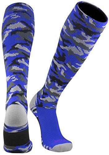 - TCK Sports Elite Performance Over The Calf Camo Socks (Royal Camo, Medium)