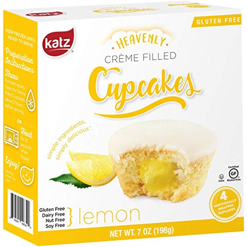 (Katz Gluten Free Lemon Crème Filled Cupcakes | Dairy, Nut, Soy and Gluten Free | Kosher (6 Packs of 4 Crème Cupcakes, 7 Ounce Each))