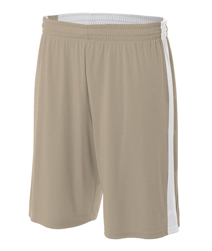 A4 N5284-vgw Reversible Feuchtigkeitsmanagement Shorts, 25,4 cm/3 x große, Gold/Weiß Vegas Gold/Weiß große, 12fd0b