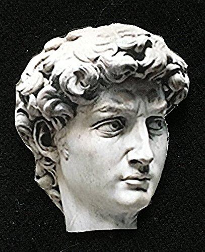 Michelangelo David Pin Brooch Handcrafted Wooden Art Jewelry, Renaissance Gift for Artist Art Lover Gift, Marble Sculpture Museum Piece (Renaissance Marble)