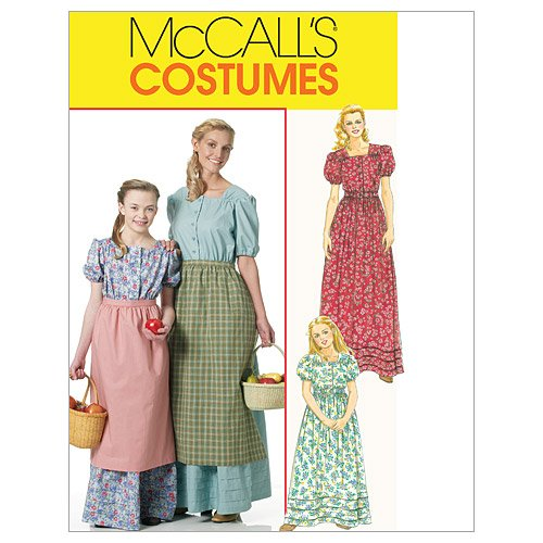 [McCall's Patterns M6140 Misses'/Girls' Colonial Costumes, Size GIRL [(7-8) (10-12) (14)]] (Colonial Girl Costumes Pattern)