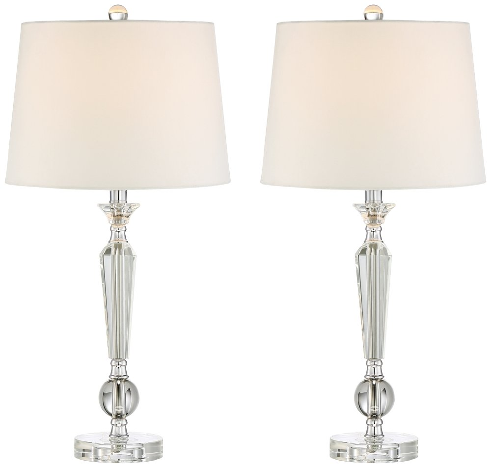 Jolie Tapered Candlestick Crystal Table Lamp Set Of 2 Amazon Com