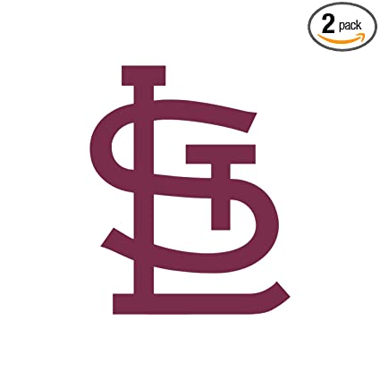 Angdest mlb st louis cardinals burgundy waterproof vinyl decal stickers for laptop phone