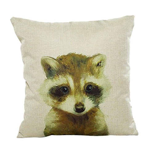 Fheaven Animals Printed Pillow Case Sofa Waist Throw Cushion Cover Home Decor for Christmas