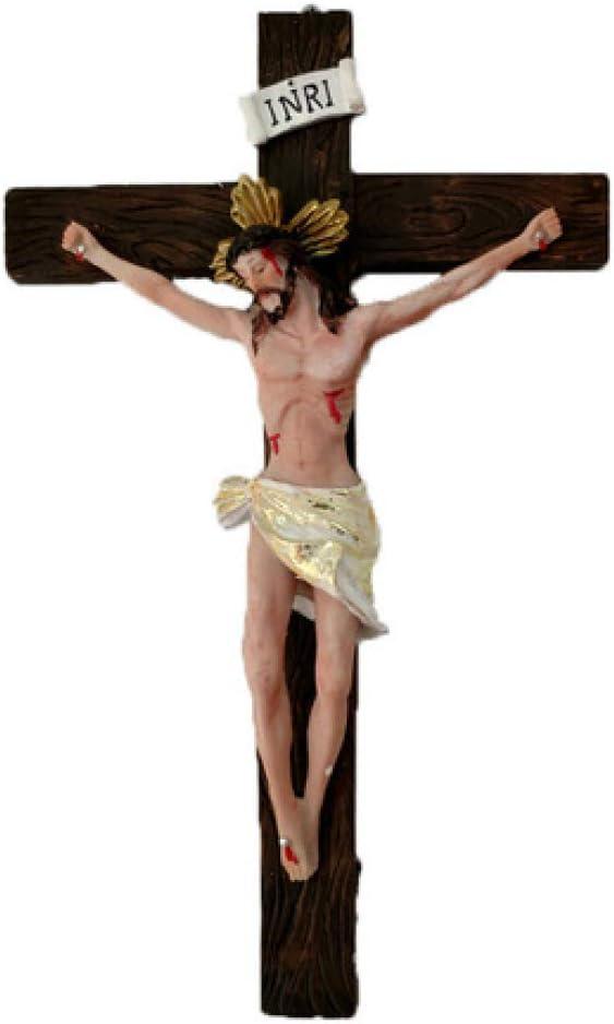 ZY&ZQ Jesús clavado en la cruz Resina pared crucifijo