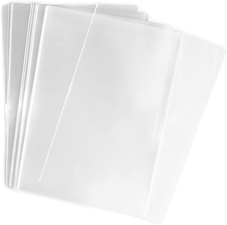 Onwon Clear Open-End Flat Cello Cellophane Treat Bag 10x14 inch(1.2mil) Gift Basket Supplies - Pack of 100