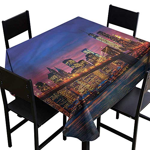 home1love New York Water Resistant Table Cloth NYC