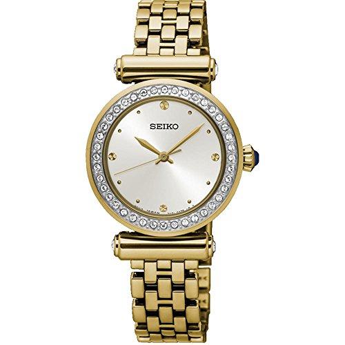 Seiko Gold Plated Bracelet - Seiko Quartz Ladies Gold Plated Stone Set Bracelet Watch