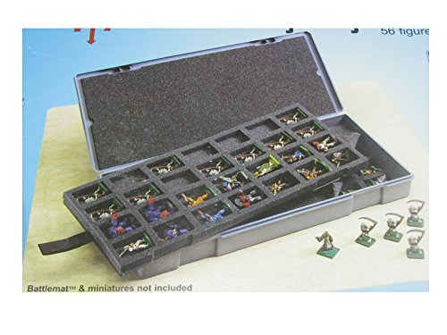 Chessex Figure Storage Boxes: Role Playing Games (RPGs) - Large Figure Storage Boxes - Larger 25mm Figures - 56 Figure / Humanoids Capacity