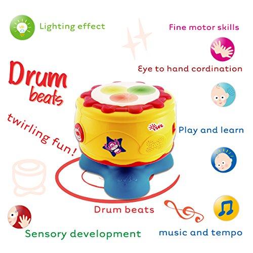 Infant Baby Bongo Drum Flash Beat - Rhythm Band Instruments