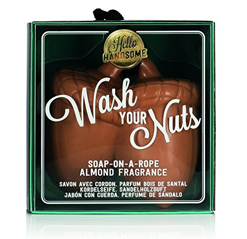 NPW-USA Hello Handsome Wash Your Nuts Soap-On-A-Rope, Nutty Almond ()