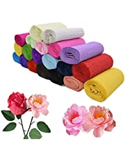 250 * 10cm Origami Crepe Paper Craft Wrinkled Paper Roll for Wedding Party Decoration Flower Wrapping Gifts Packing Material