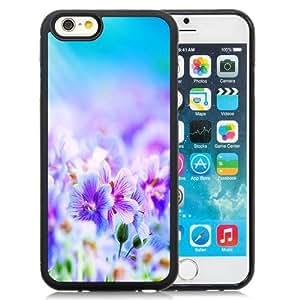 NEW Unique Custom Designed iPhone 6 4.7 Inch TPU Phone Case With Purple Petunias Field_Black Phone Case