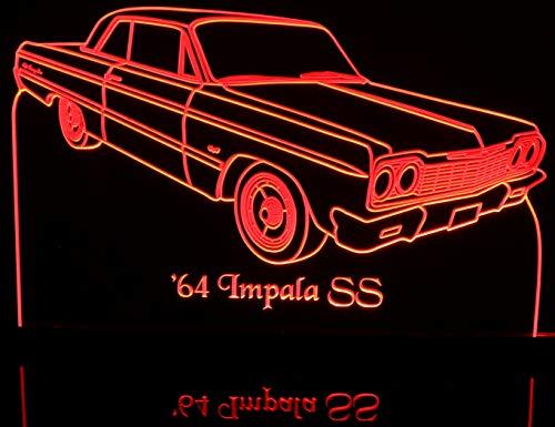 (1964 Impala SS 2 Door Hardtop Acrylic Lighted Edge Lit LED 13
