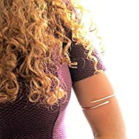 Customized Upper Arm Cuff Jewelry for women, 14k gold, rose gold, sterling silver, brass, copper