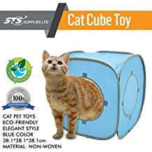 Cat Cube Toy Play Prime House Soft Funny Lucky Fancy Furniture Easy Storage Cute Blue Exercise Game Activity Sleeping Collapsible House Condo Fabric Cubby Washable Catz Cuba & eBook by Easy2Find