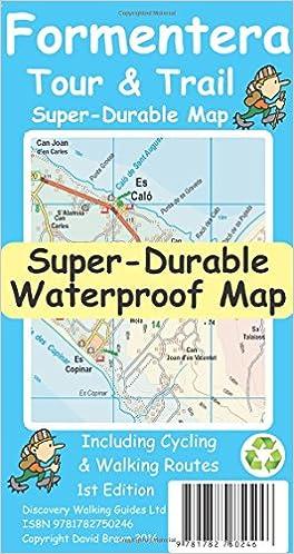 Formentera Tour Trail SuperDurable Map Amazoncouk David Brawn