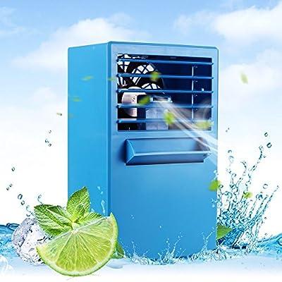 LUCKSTAR Desktop Air Conditioning Fan - Quiet Personal Mini Fan Air Cooler for Refrigeration & Humidification & Fresh Air