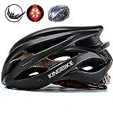 KINGBIKE Adult Bike Helmet Ultralight with Helmet Rain Cover and Safety...