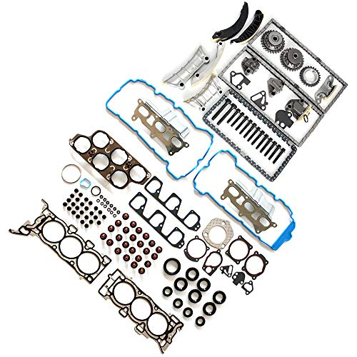 AUTOMUTO Timing Part Timing Chain kit Head Gasket Set fits for 2007 Saturn Aura 3.6L 217Cu. in. V6 Gas DOHC Naturally Aspirated ()