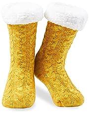 CityComfort Slipper Fluffy Sokken voor Vrouwen en Dames Mannen Warmte Holding Sokken Gebreide Sokken Wol Sherpa Fuzzy Bed Slippers Non Slip
