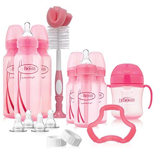 Dr. Browns Options Baby Bottles Gift Set, Pink
