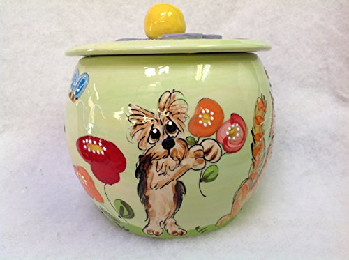 Treat Jar for Pets personalized at no charge and signed by Artist, Debby Carman For Sale