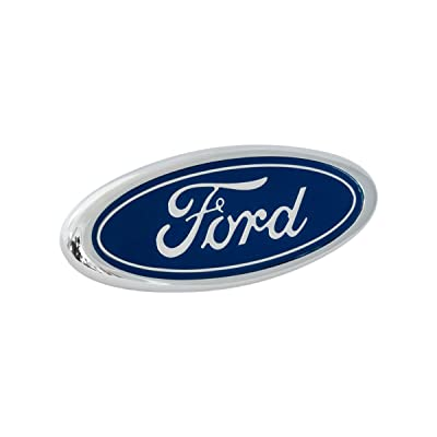 "1983-1993 Ford Mustang GT LX Front Bumper Correct Blue 4"" Oval Emblem Badge: Automotive"