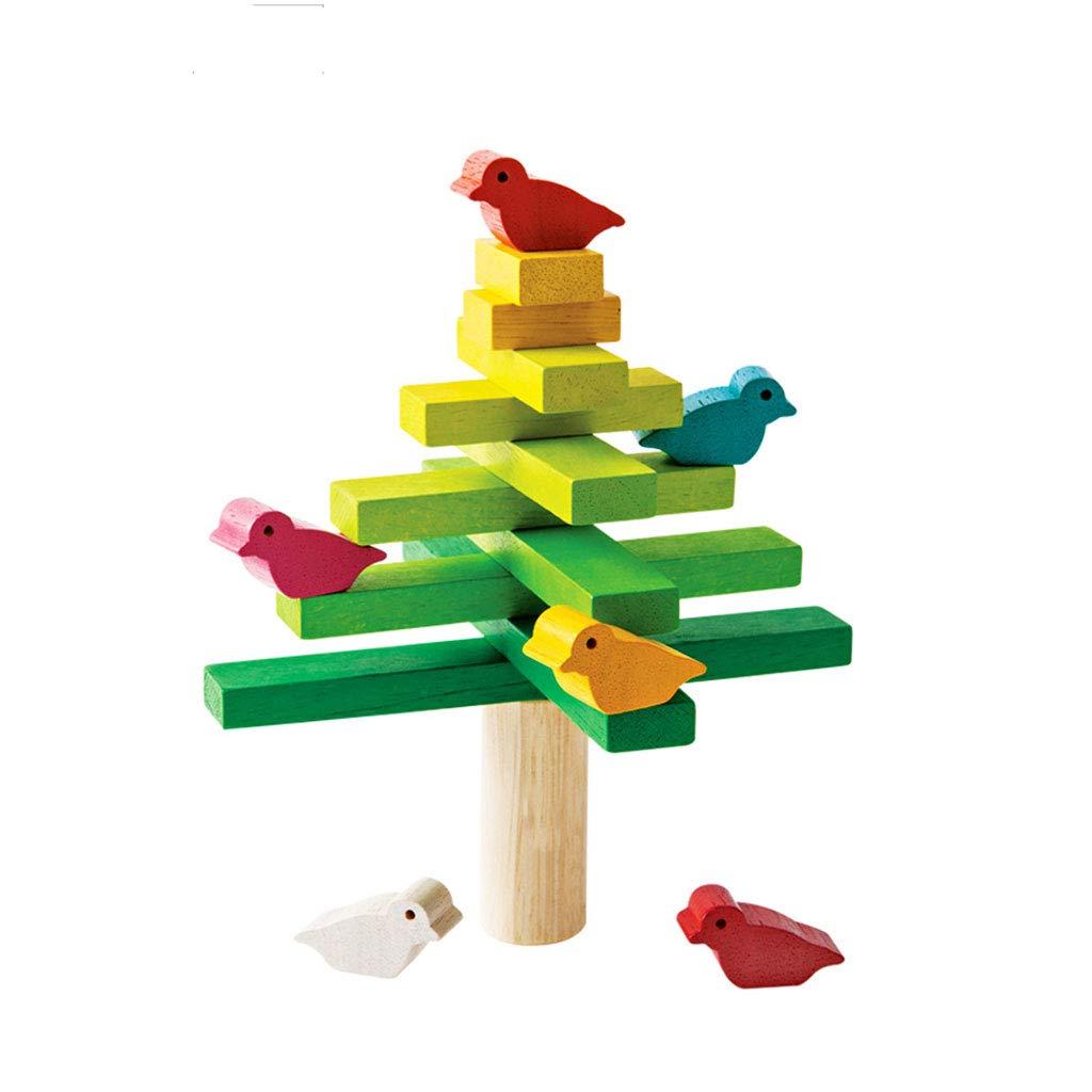 LINGLING-おもちゃ バランスビルディングブロックツリーおもちゃ幼児教育パズルギフト (色 : マルチカラー まるちから゜)  マルチカラー まるちから゜ B07M71QQL8