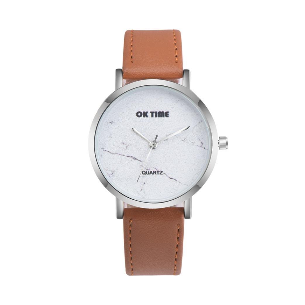 Mandy Women Watch Analog Quartz Watches Round Wrist Watch (Brown)