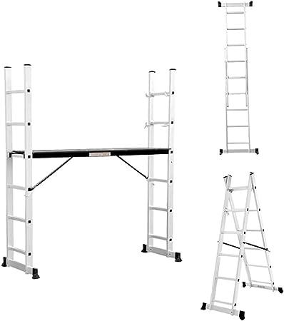 HHORD Escalera de andamio de Aluminio Grueso para decoración de Interiores, Escalera combinada de ingeniería Plegable, Escalera,Sixsteps: Amazon.es: Hogar