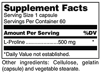 Douglas Laboratories – L-Proline – Supports Skin Health and Collagen Formation* – 60 Capsules