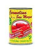 Carmelina 'e San Marzano Italian Whole  Peeled Tomatoes in Puree, 14.28-Ounce Cans (Pack of 12)