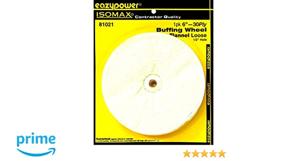 Eastwood Buff Wheel 6 in Arbor Hole Canton Flannel Buffing 1//2 in