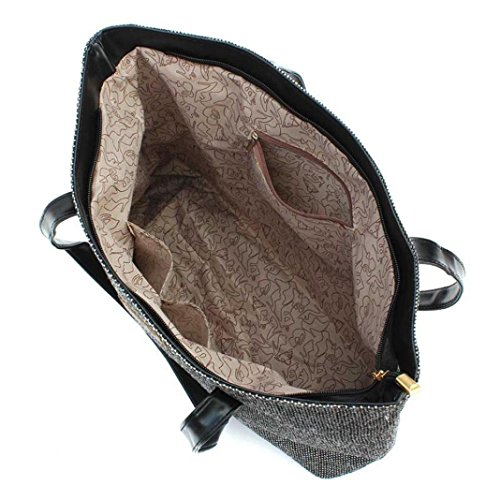Sinwo Women Canvas Handbag Shoulder Bags Shopping Casual Totes (Gray)