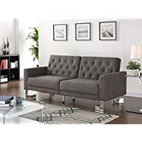Casabianca Furniture Marino Collection Fabric Sofa Bed, Gray