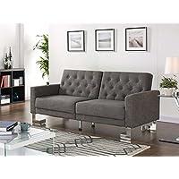 Casabianca Furniture Marino Collection Fabric Sofa Bed, Gray