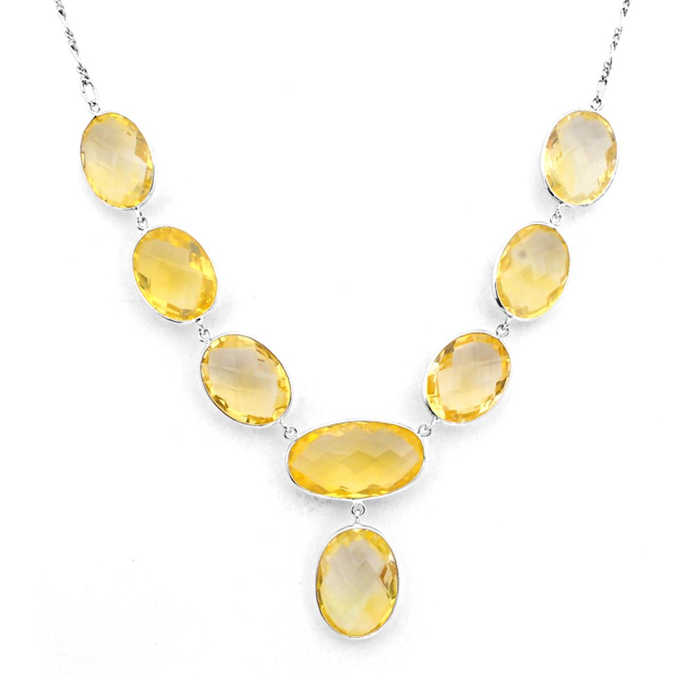 Orchid Jewelry Sterling Silver Citrine Necklace