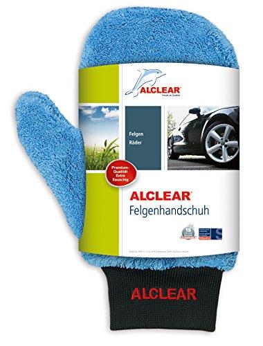 ALCLEAR 950013b Ultra-Microfaser Felgenhandschuh circa 26 x 12 cm blau