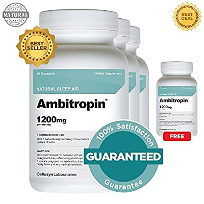 Ambitropin 3 Pack and 1 Free Ambitropin - Clinical Strength All Natural Sleep Aid