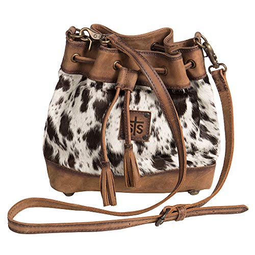 STS Ranchwear Women's The Classic Bucket Bag Cowhide/Tornado Brown One ()
