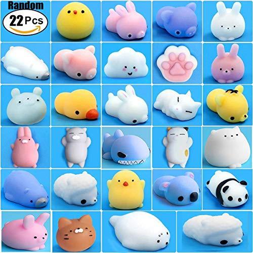 Mochi Squishy Toys, 22pcs Random Mini Cute Squishies Animals