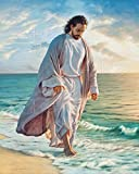 jesus picture - Picture Peddler Be Still My Soul by Mark Missman Jesus Beach Christian Religion Print Poster 8x10