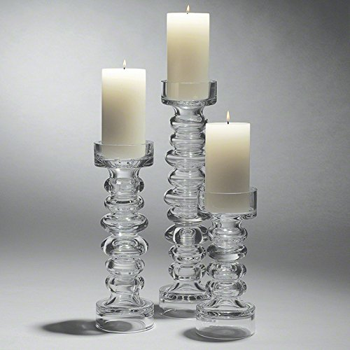 Global Views Glass Ribbed Candleholder /Vase - Glasses Swedish Brand